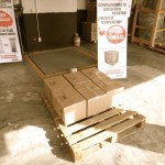 On the pallet, ready to go